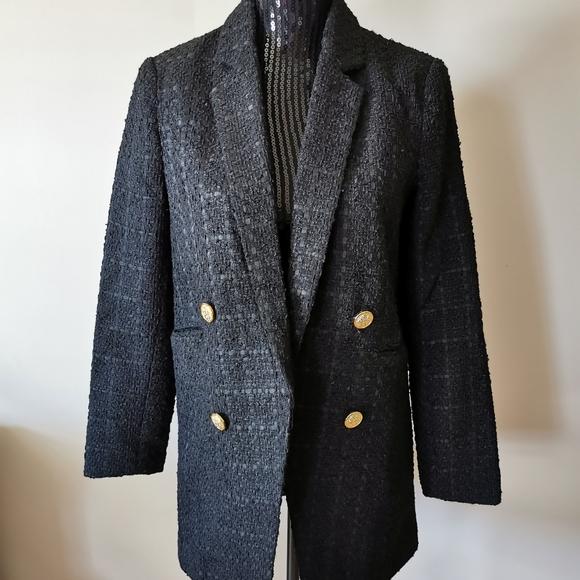 Another Story Black Black Blazer Size medium